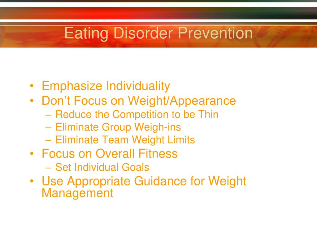 Eating Disorder Prevention