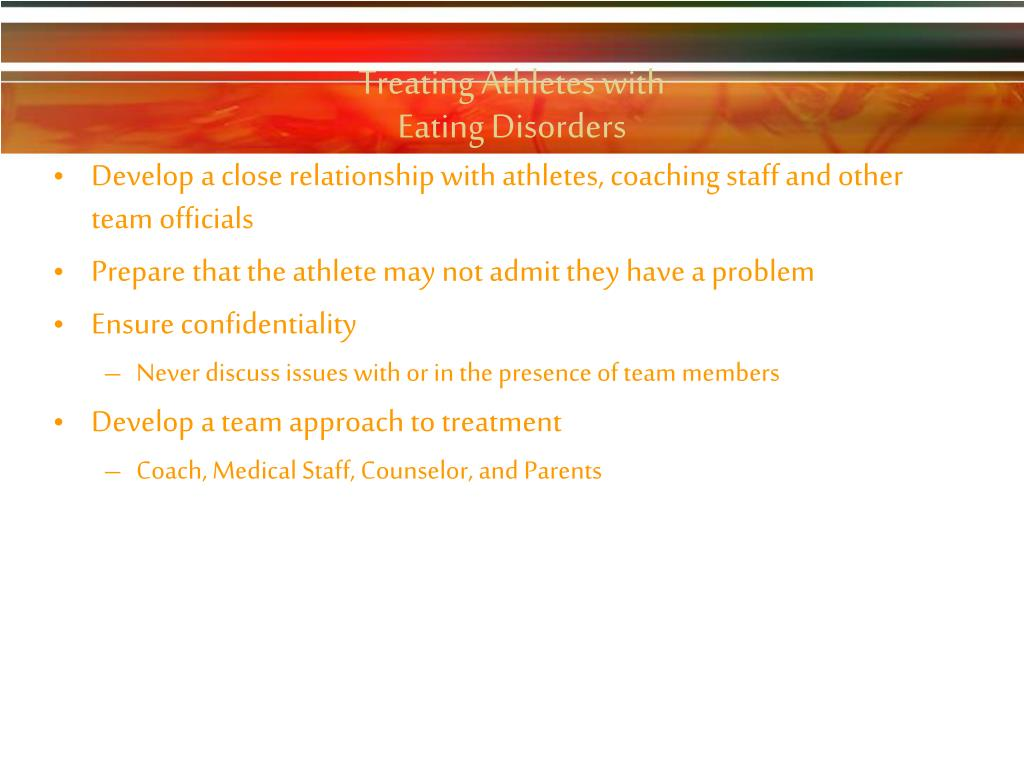 Treating Athletes with