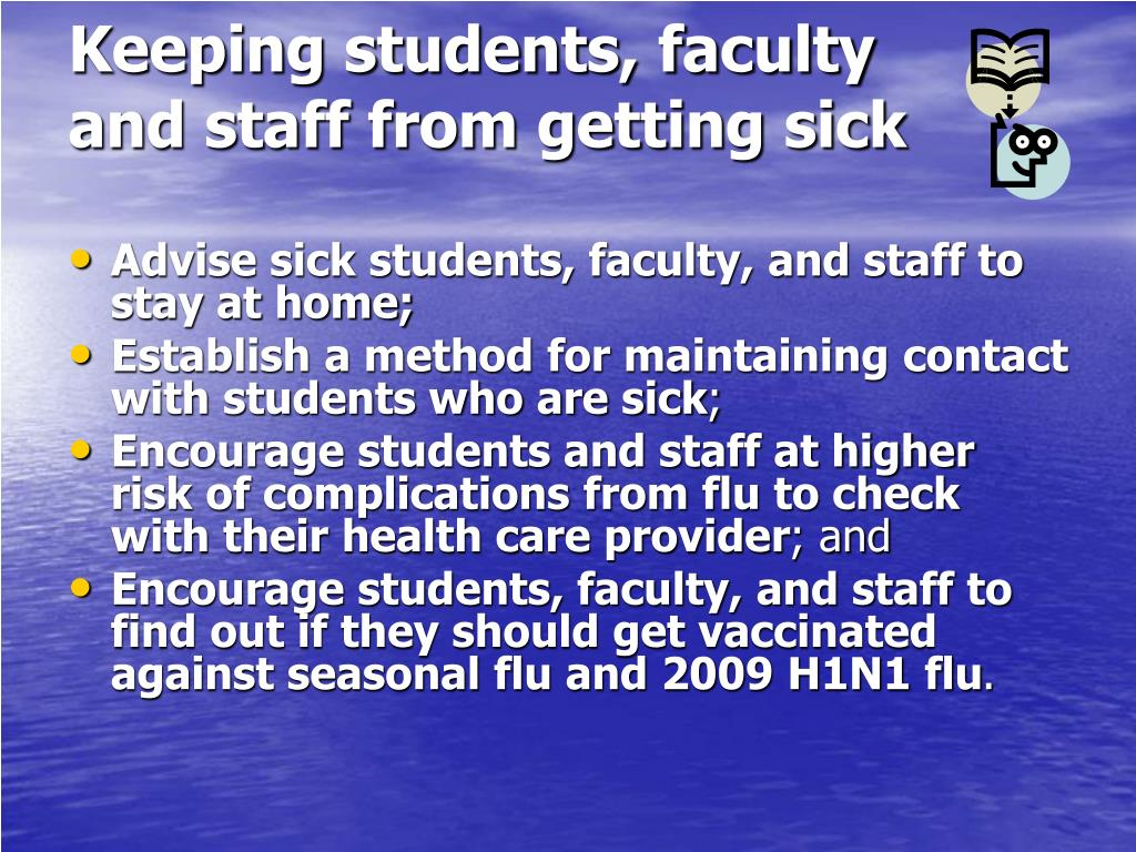 Keeping students, faculty and staff from getting sick