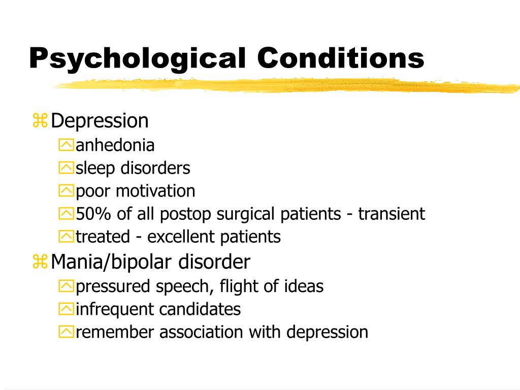 Psychological Conditions