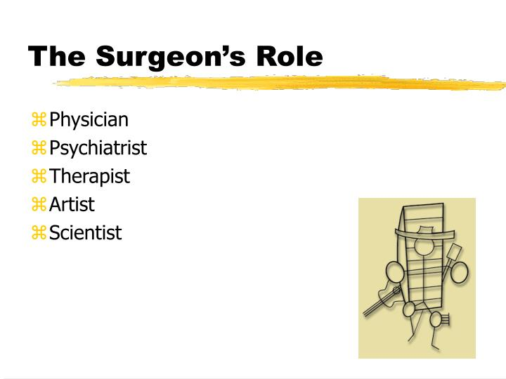 The surgeon s role