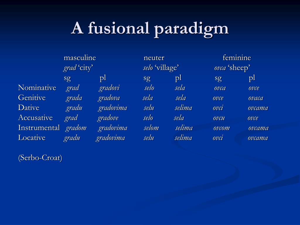 A fusional paradigm
