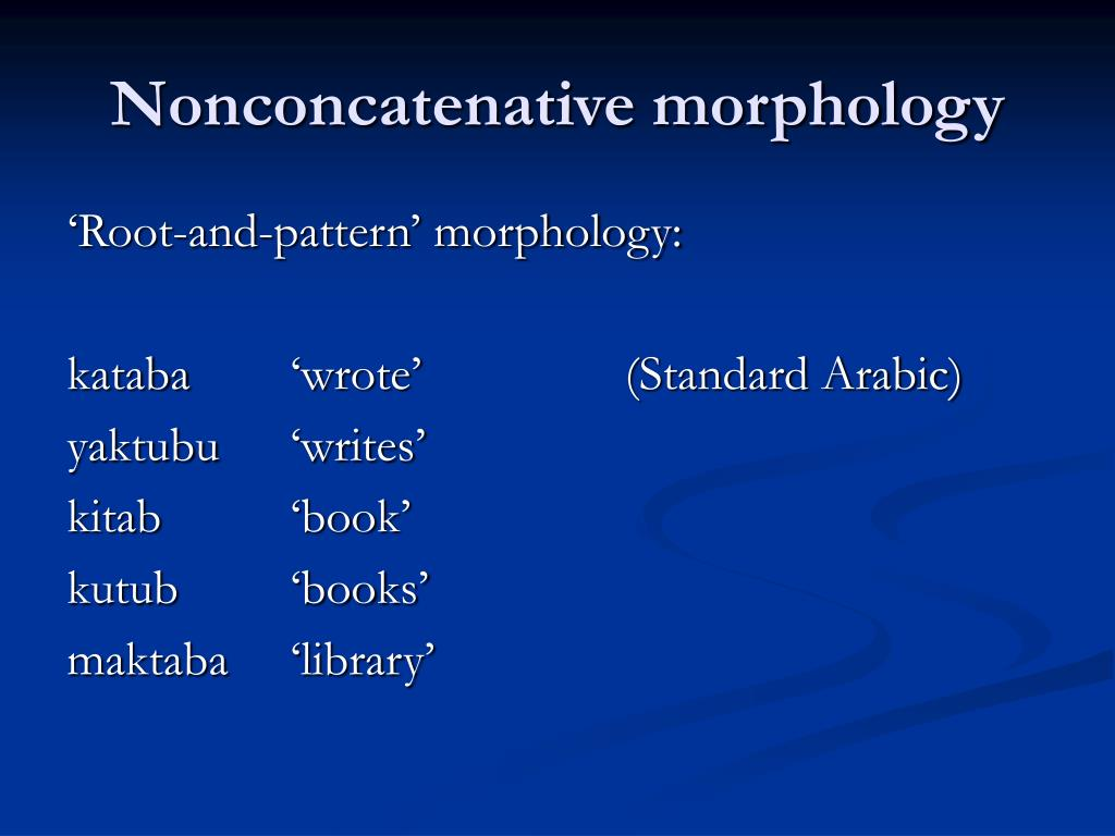 Nonconcatenative morphology