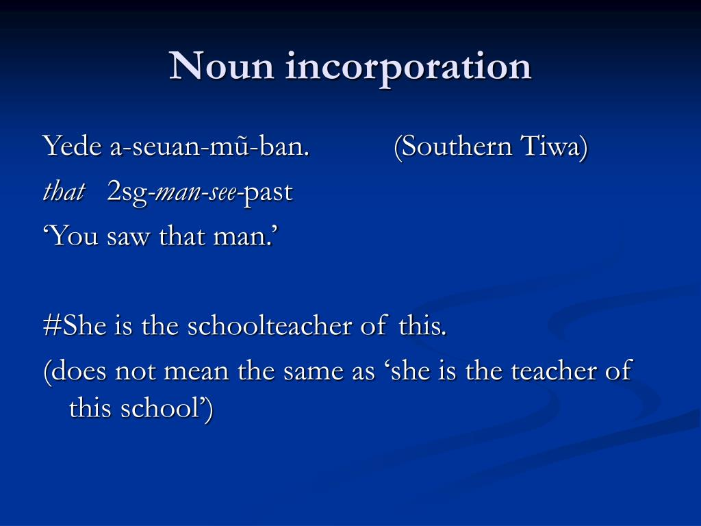 Noun incorporation