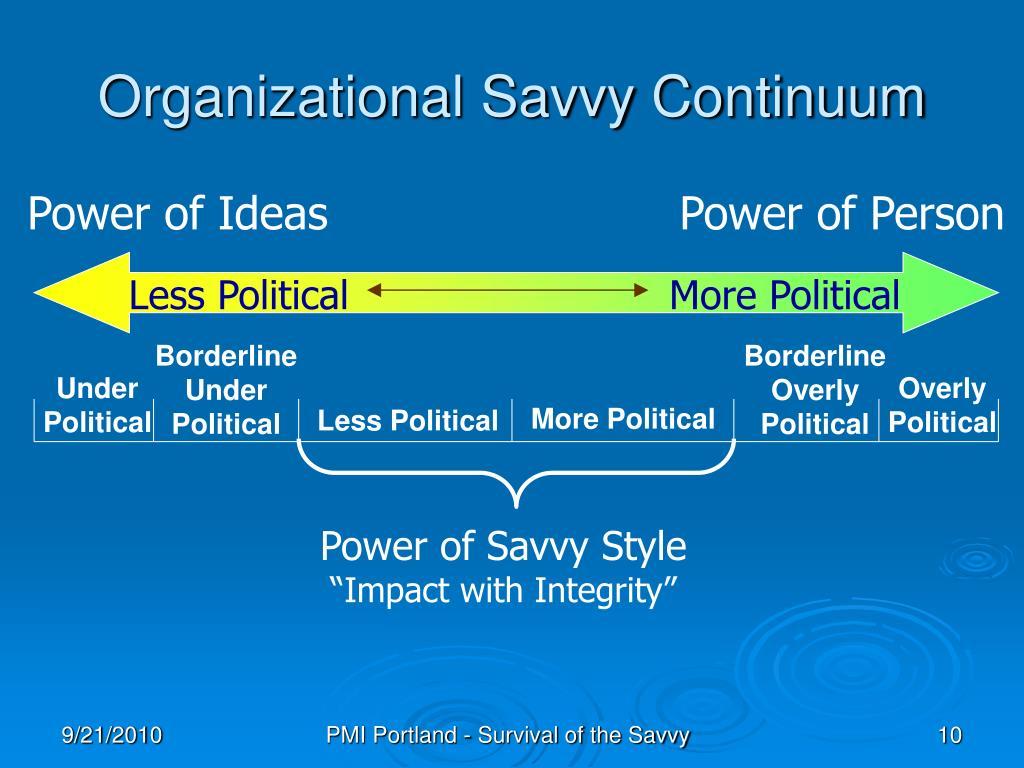 Organizational Savvy Continuum