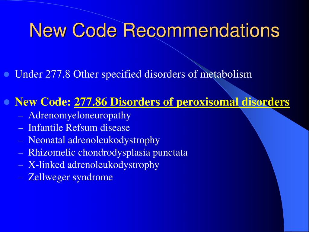 New Code Recommendations