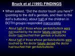 bruck et al 1995 findings