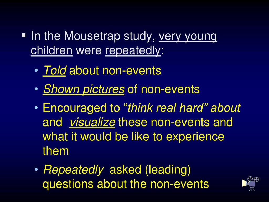 In the Mousetrap study,