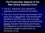 the prosecution appeals to the new jersey supreme court