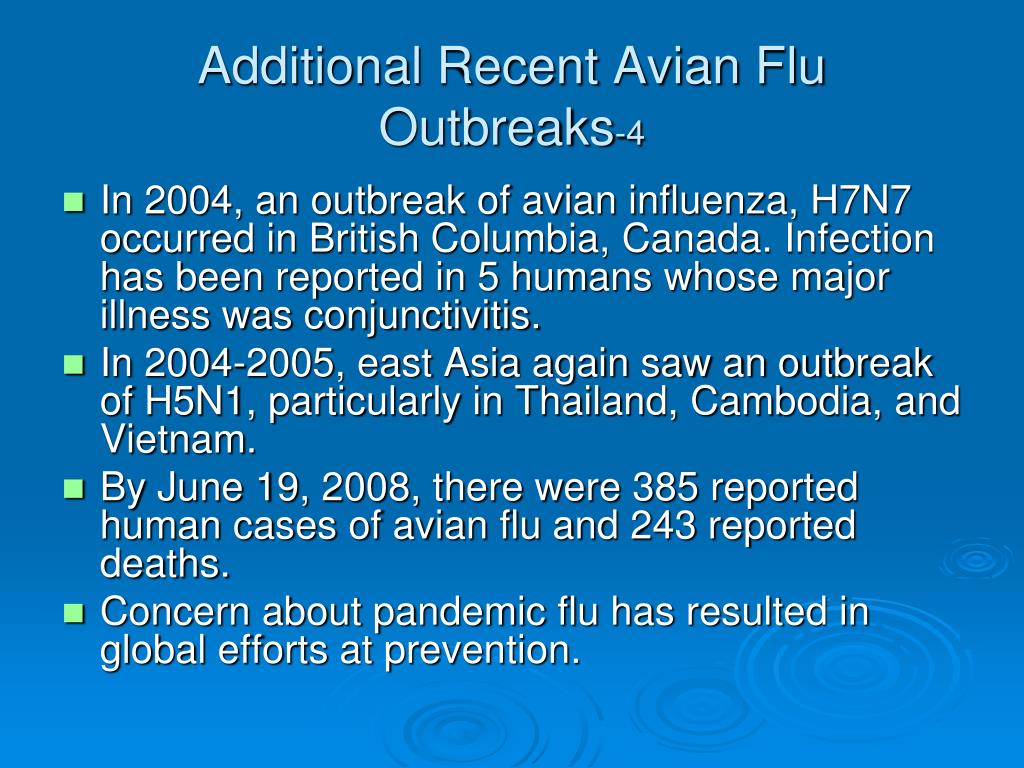 Additional Recent Avian Flu