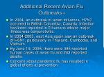 additional recent avian flu outbreaks 4