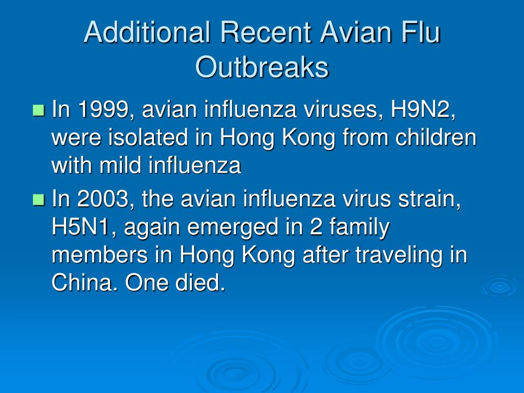 Additional Recent Avian Flu Outbreaks
