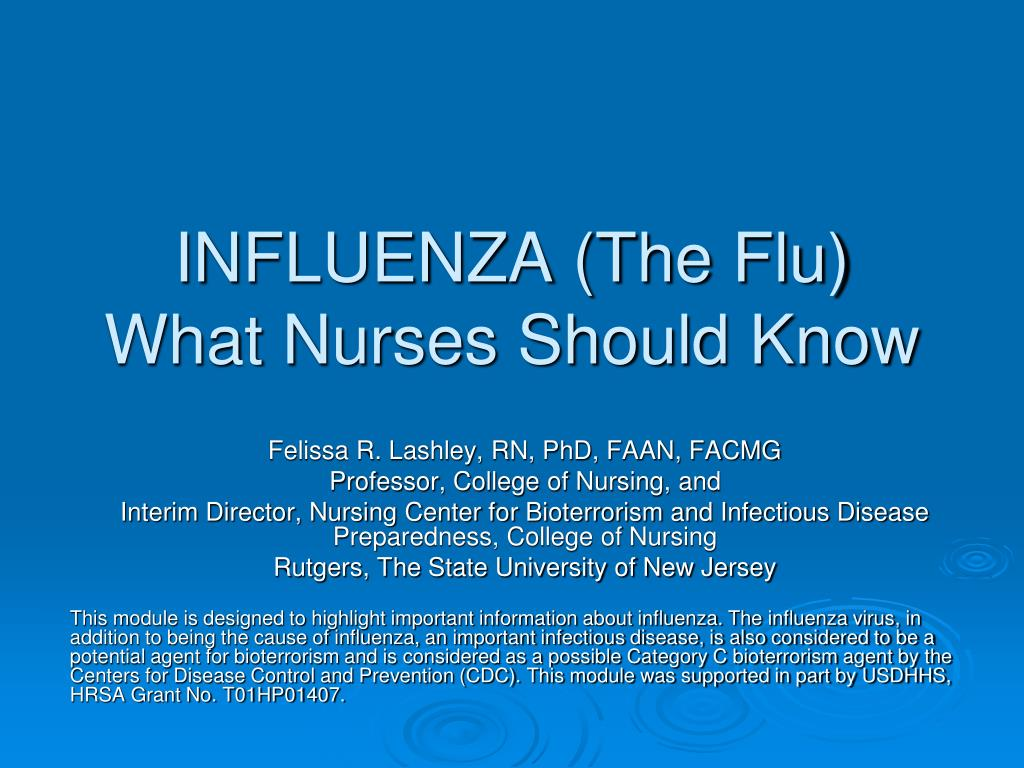 INFLUENZA (The Flu)