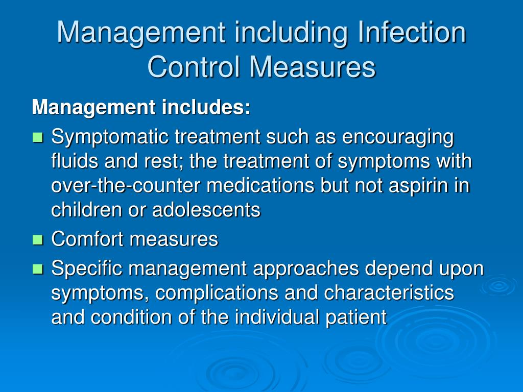 Management including Infection Control Measures