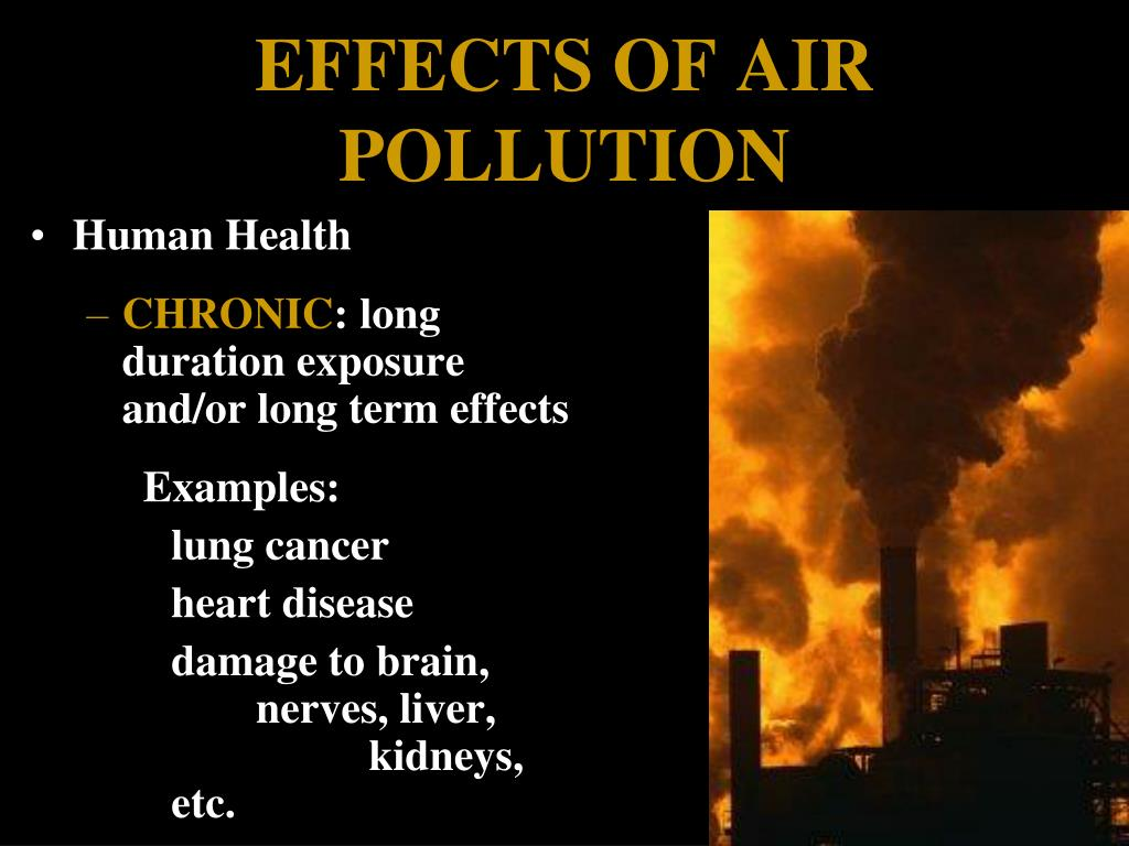 affects of daily air pollution on Air pollution can further be classified into two sections- visible air pollution and invisible air pollution another way of looking at air pollution could be any substance that holds the potential to hinder the atmosphere or the well being of the living beings surviving in it.