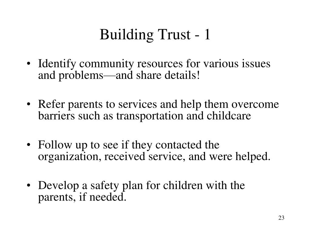 Building Trust - 1