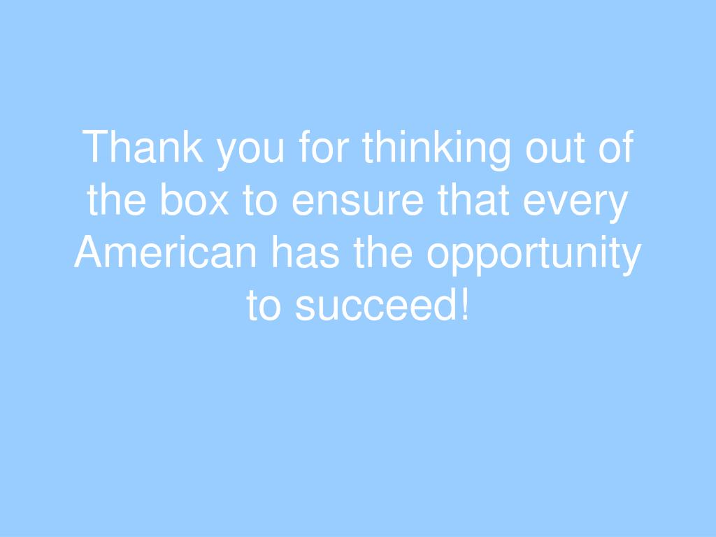 thank you opportunity inc