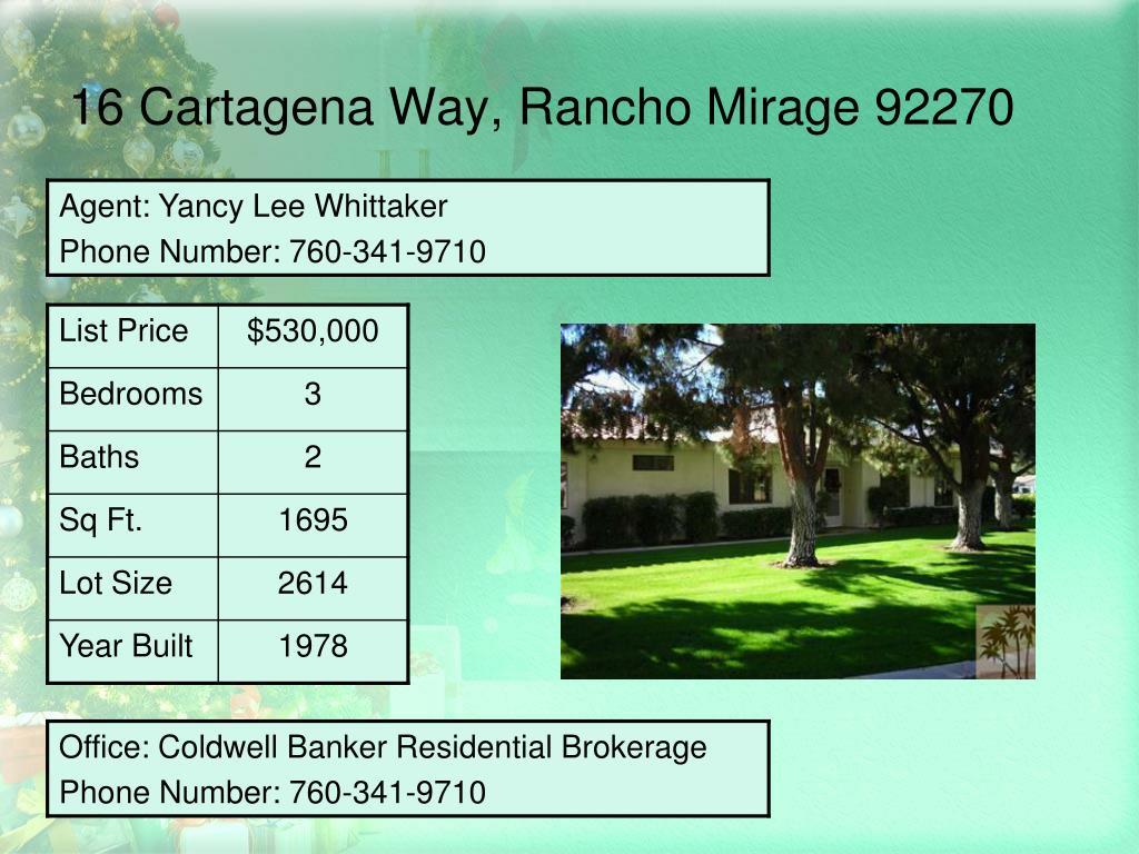 16 Cartagena Way, Rancho Mirage 92270