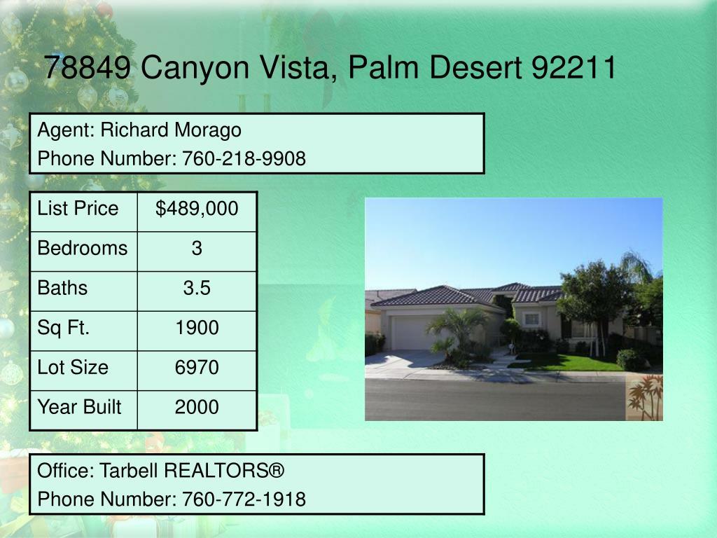78849 Canyon Vista, Palm Desert 92211