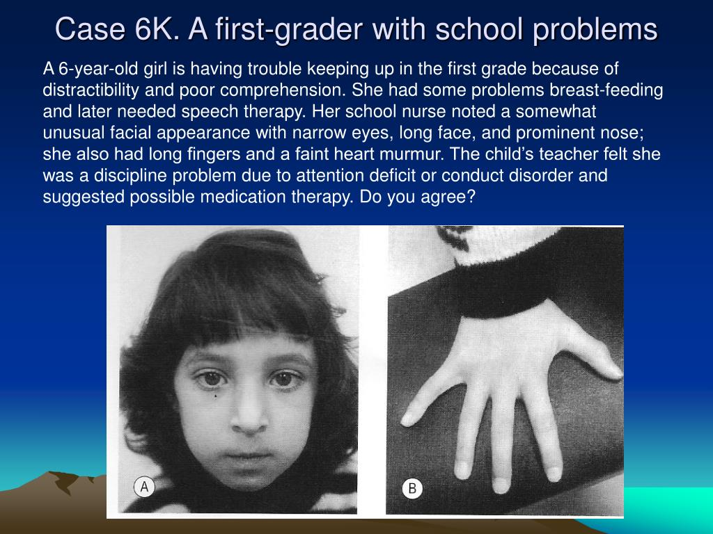 Case 6K. A first-grader with school problems