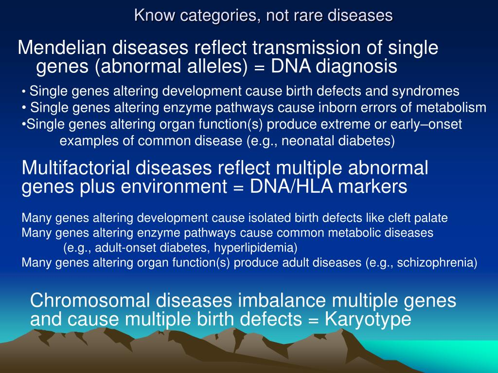 Know categories, not rare diseases