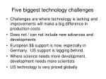 five biggest technology challenges