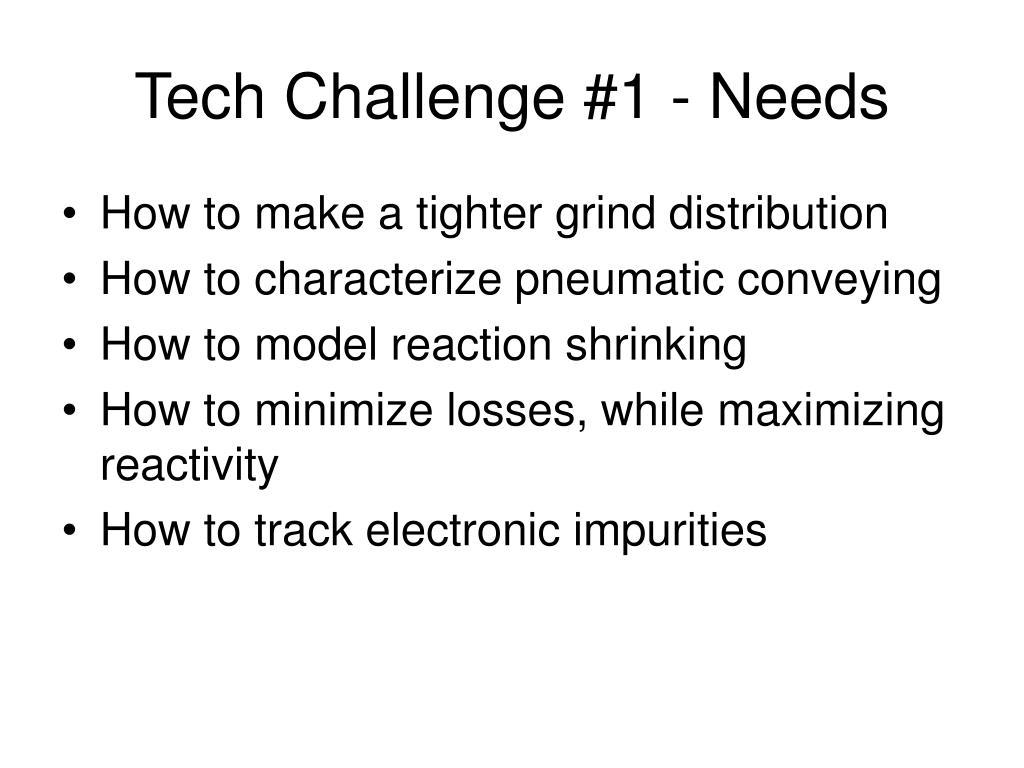 Tech Challenge #1 - Needs