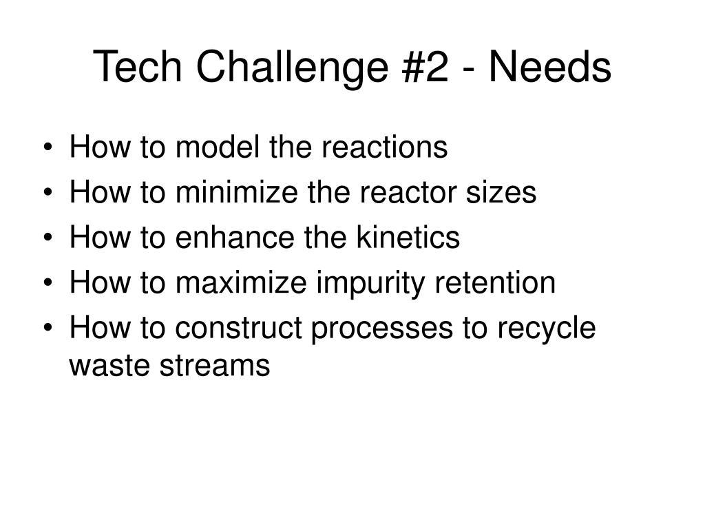 Tech Challenge #2 - Needs