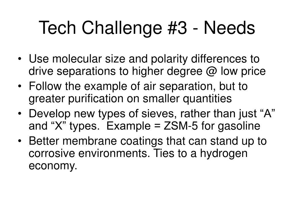 Tech Challenge #3 - Needs
