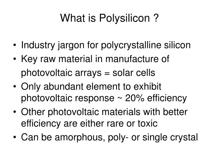 What is polysilicon