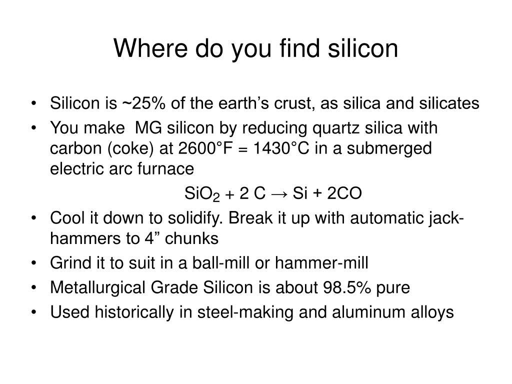 Where do you find silicon