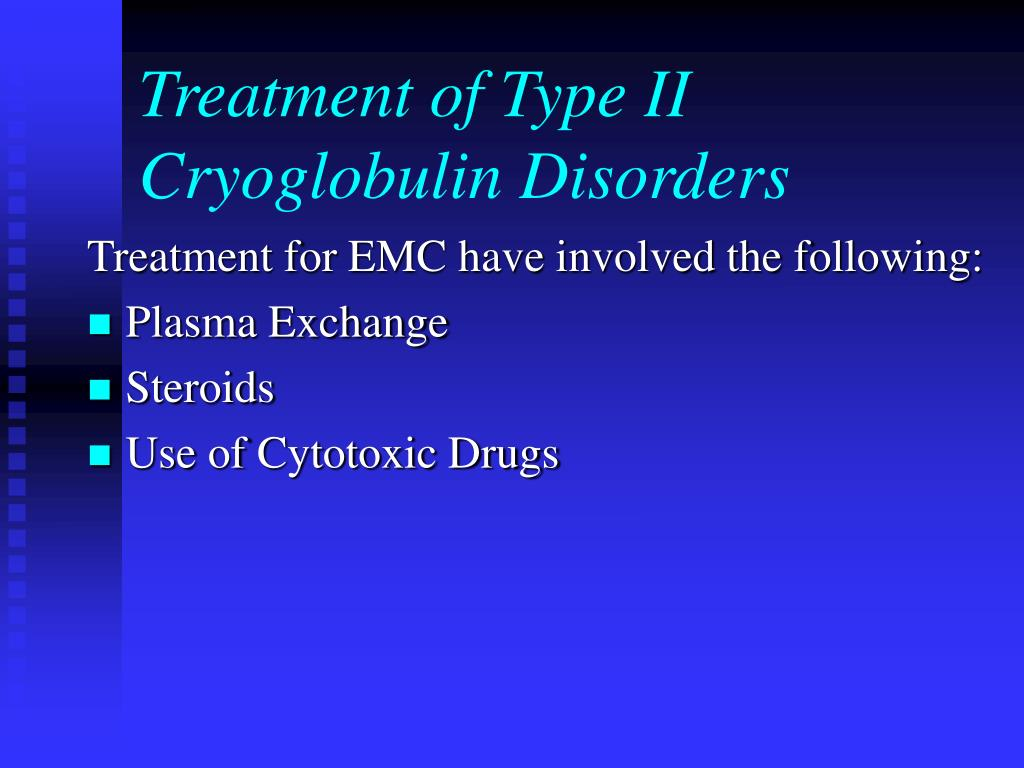 Treatment of Type II Cryoglobulin Disorders