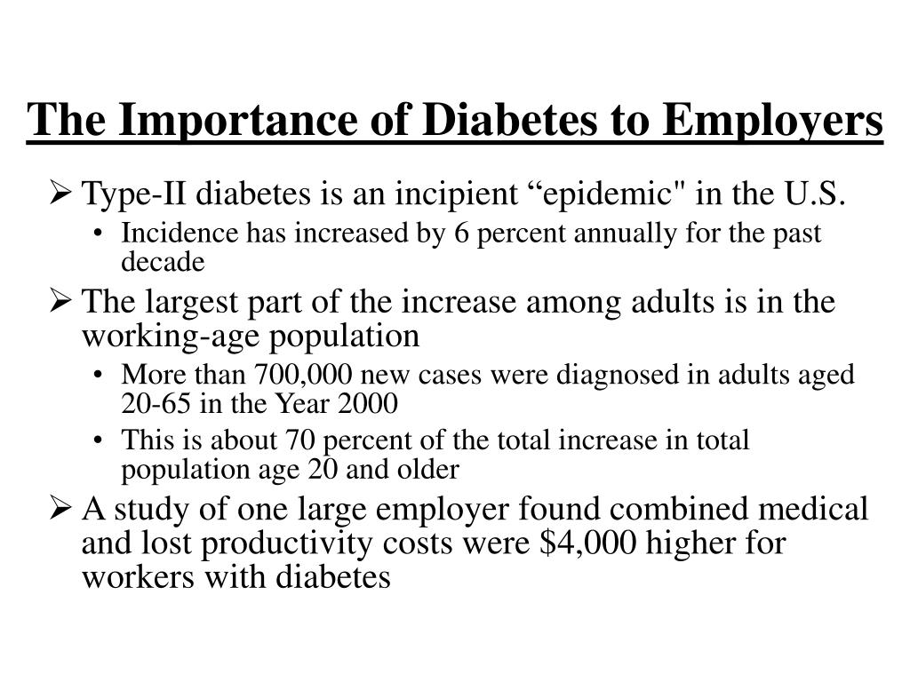 The Importance of Diabetes to Employers
