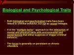 biological and psychological traits