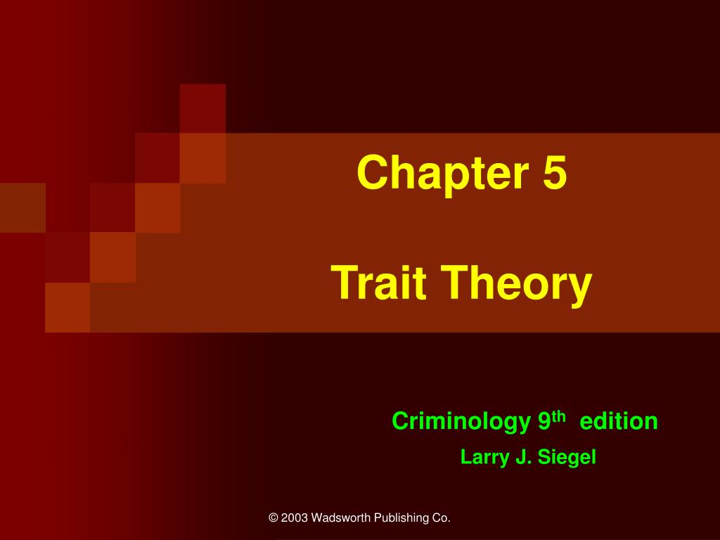 chapter 5 trait theory