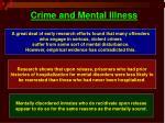 crime and mental illness