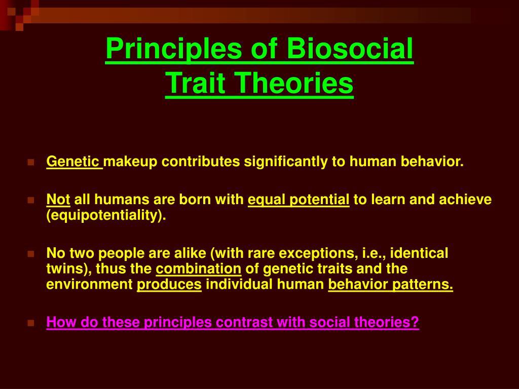 Principles of Biosocial