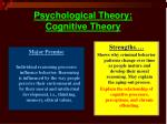 psychological theory cognitive theory