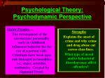 psychological theory psychodynamic perspective