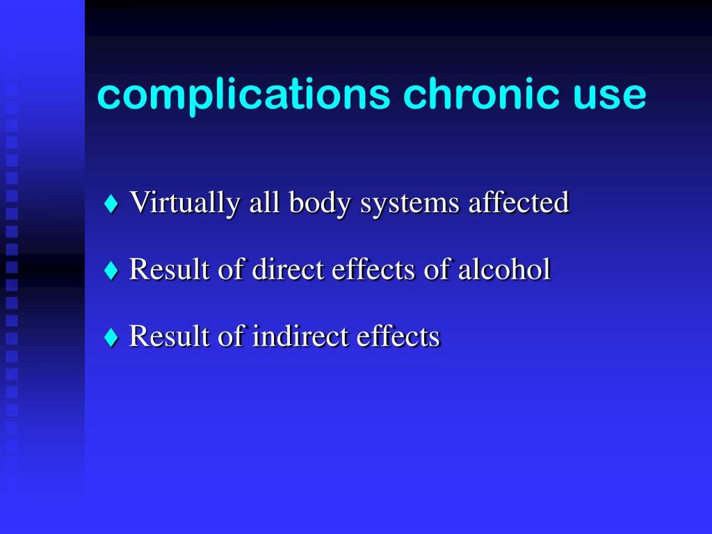 complications chronic use