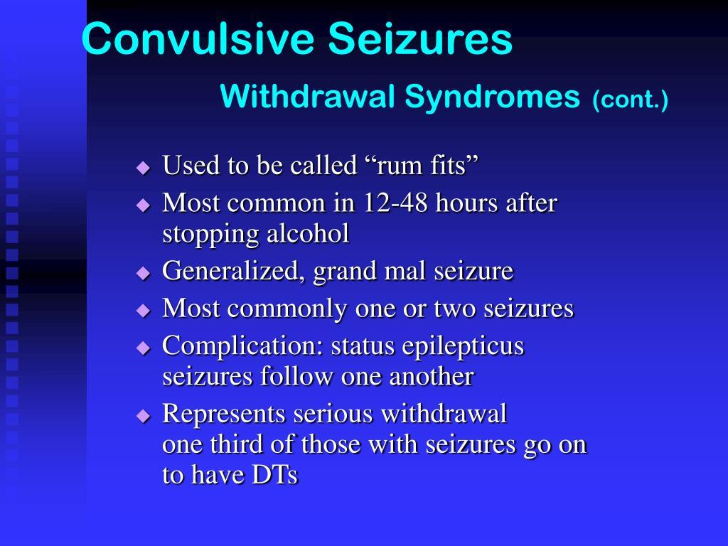 Convulsive Seizures