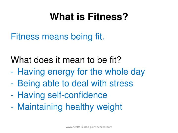 What is fitness l.jpg