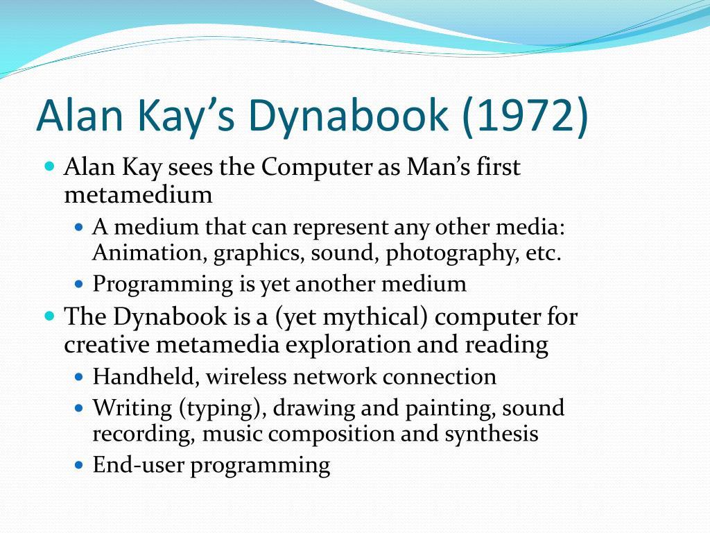 Alan Kay's Dynabook (1972)
