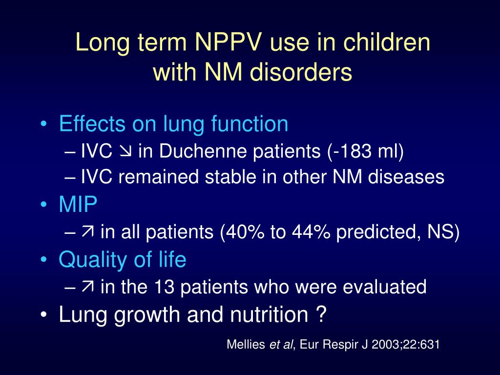 Long term NPPV use in children