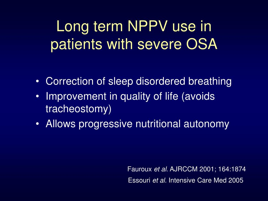 Long term NPPV use in