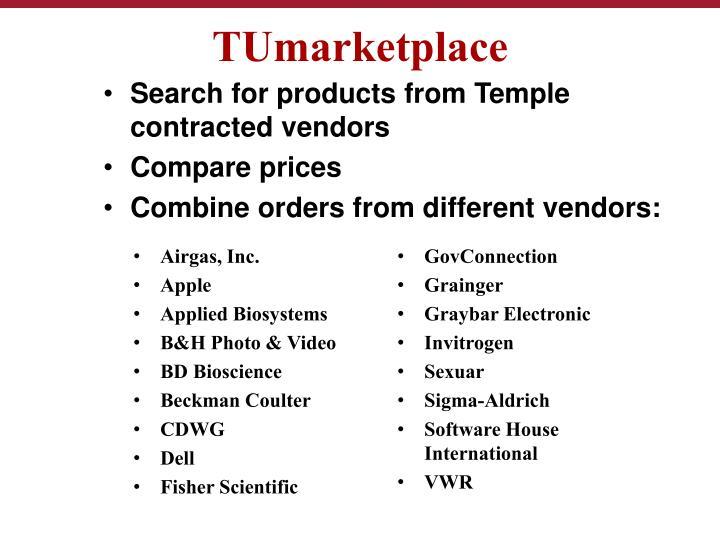 TUmarketplace
