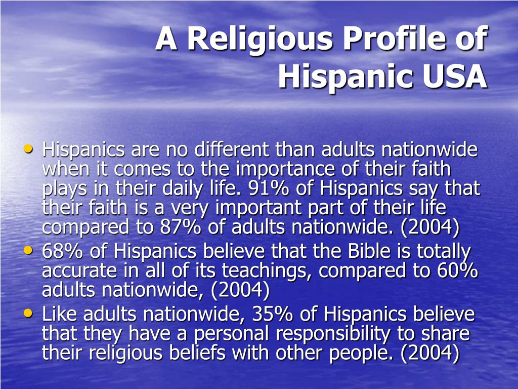 A Religious Profile of Hispanic USA