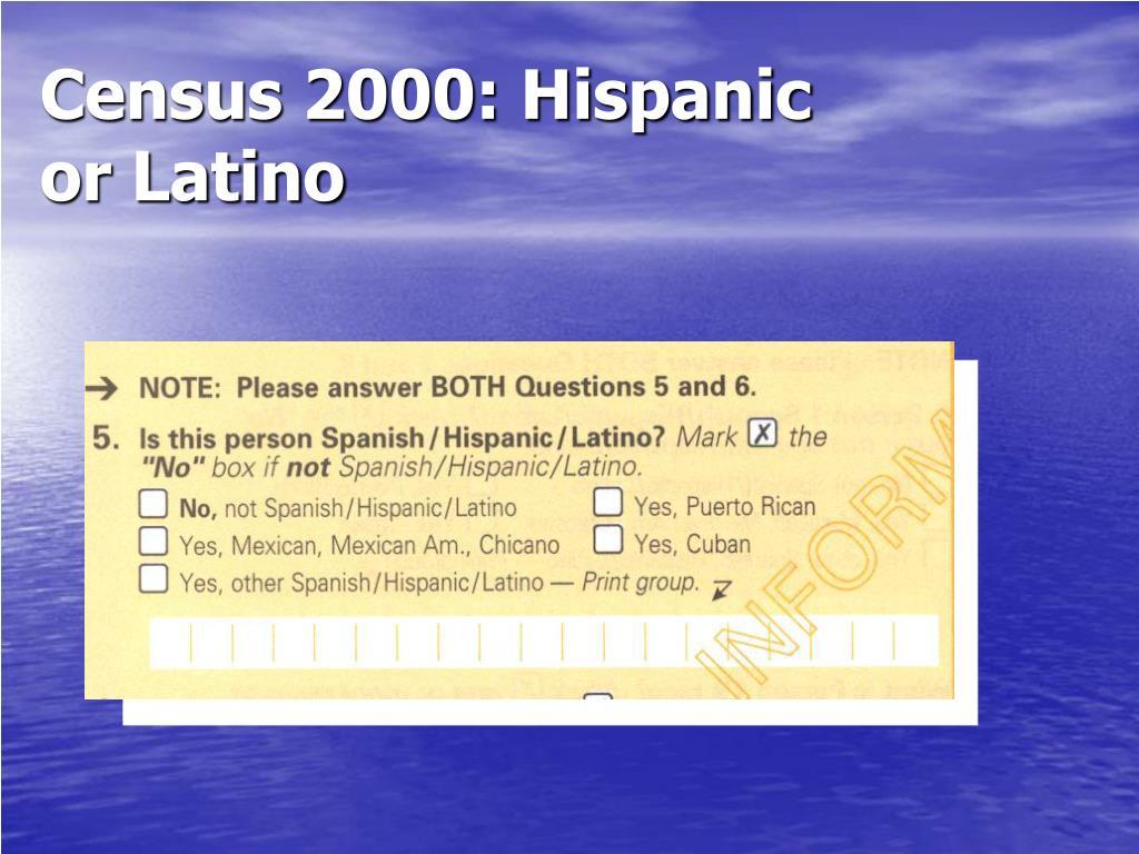 Census 2000: Hispanic