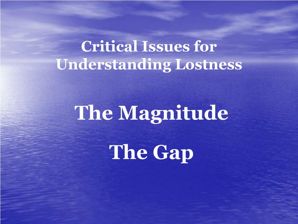 Critical Issues for