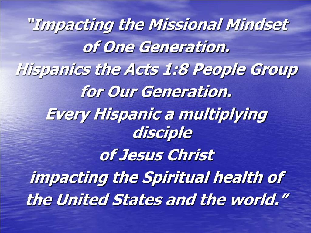 """Impacting the Missional Mindset"